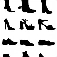 Link toShoe vectors silhouettes