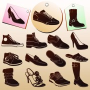 Link toShoes tags and shoes vector free