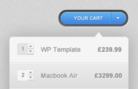 Link toShopping cart dropdown psd