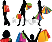 Link toShopping fashion talent silhouettes vector