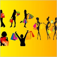 Link toShopping female silhouette vector