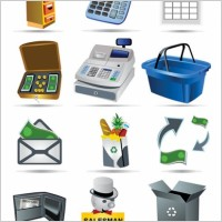 Link toShopping icon vector payment