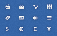 Link toShopping icons psd