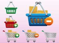 Link toShopping icons vector free