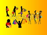 Link toShopping women silhouettes vector