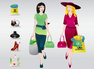 Link toShopping women vector free