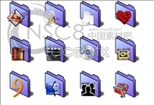 Link toShort purple folders