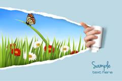 Link toShredded paper natural background vector