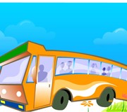 Link toSightseeing bus and lovely views vector free