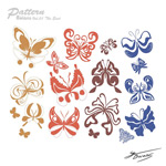 Link toSilhouette butterfly pattern vector
