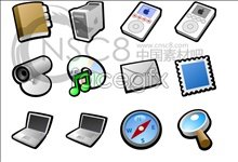 Silver apple system icons