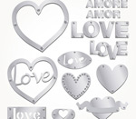 Link toSilver love and word art vector