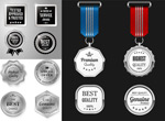 Silver medal icons vector