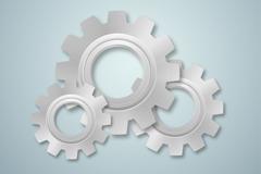 Link toSilver metal gear set design vector