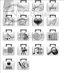 Link toSilver suitcase icon series