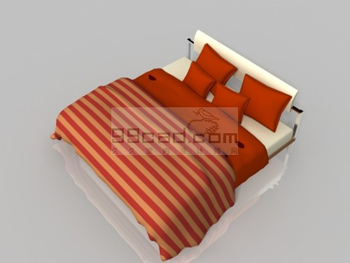 Link toSimple 3d model of household fabric bed