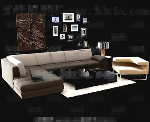 Link toSimple and comfortable sofa combination 3d model