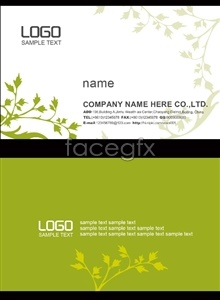 Link topsd template design card business style fresh and natural and Simple