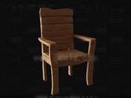 Link toSimple and original wooden chair 3d model