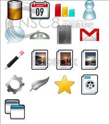 icons desktop practical and Simple