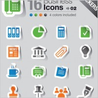 Link toSimple and practical icon 03 vector