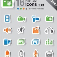 Link toSimple and practical icon 04 vector