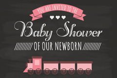 Link toSimple baby party poster vector