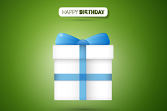 Link toSimple birthday gift box icon vector