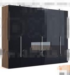Link toSimple black four-door wardrobe 3d model