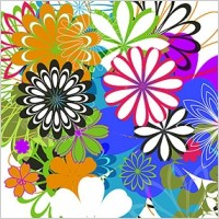 Link toSimple colorful flowers vector