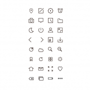 Link toSimple cute outline web icons free