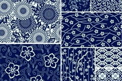 Link toSimple floral patterns vector