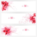 Link toSimple flower banner vector