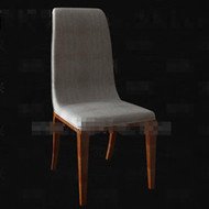 Link toSimple gray fabric wood chair 3d model