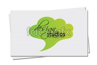 Link toSimple green business card design template vector