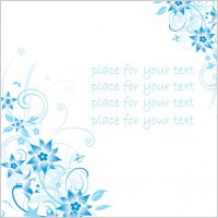 Link toSimple handpainted flowers and blue text background pattern vector 4
