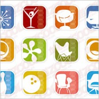 Link toSimple icon vector graphics material