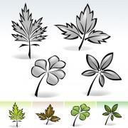 Link toSimple leaf creative vector set 03 free