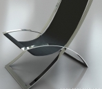 Link toSimple model of two stainless steel chair 3d model