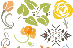 Link toSimple painting pattern design vector