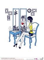 Link toSimple painting women vector
