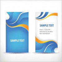 Link toSimple pattern business card template 02 vector