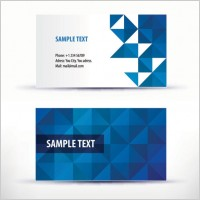 Link toSimple pattern business card template 04 vector