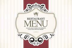 Link toSimple restaurant menu covers vector graphics