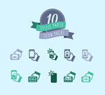 Link toSimple self timer icon vector