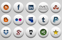 Link toSimple social icons psd