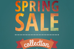 Simple spring promotional poster vector