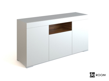 Link toSimple style white low-lying cabinet 3d model