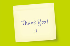 Link toSimple thanks note vector