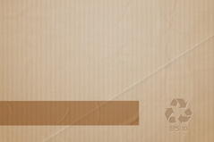 Simple vector background of corrugated